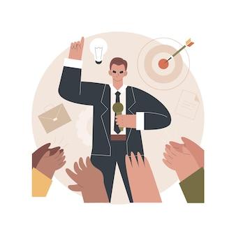 Illustration de coaching d'affaires