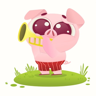 Illustration de cochon mignon