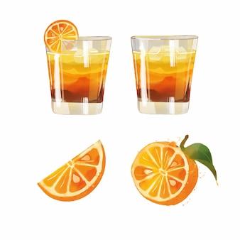 Illustration de cocktail aquarelle bris vegas