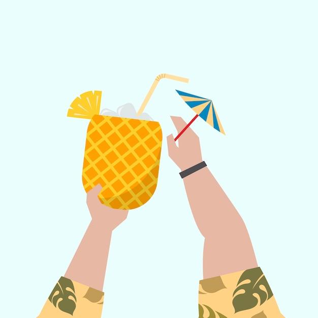 Illustration d'un cocktail fruité