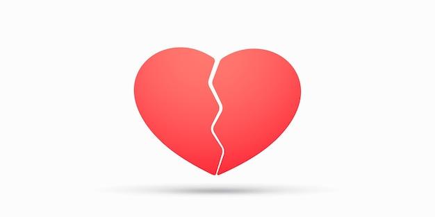 Illustration de coeur brisé rouge