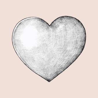 Illustration de coeur dessinés à la main