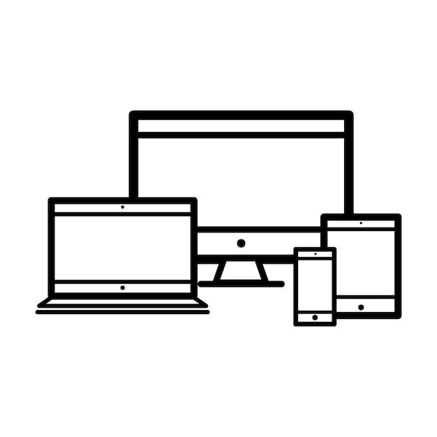 Illustration de la collection d'appareils numériques