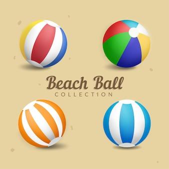 Illustration de la collection de ballons de plage