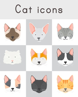 Illustration de la collection de chats
