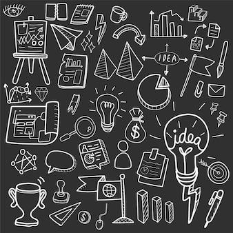 Illustration de la collection de création d'entreprise doodle
