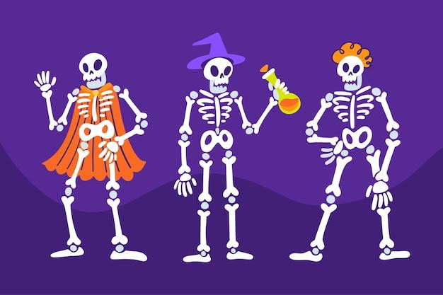 Illustration de la collection halloween squelette