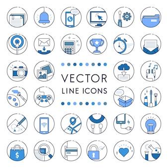 Illustration de la collection de lignes vectorielles
