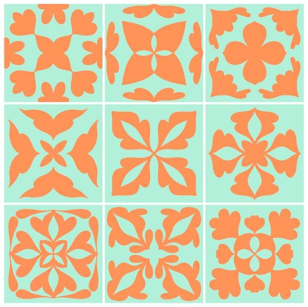Illustration de la collection de motifs texturés carreaux vintage