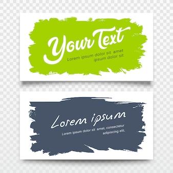 Illustration de collections de conception colorée de fond de coup de pinceau de carte de nom d'entreprise de vecteur