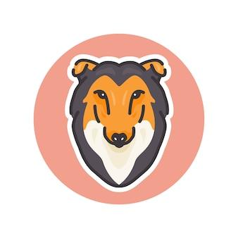 Illustration de colley chien mascotte, parfaite pour le logo ou la mascotte