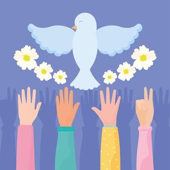 Illustration de la colombe de la paix