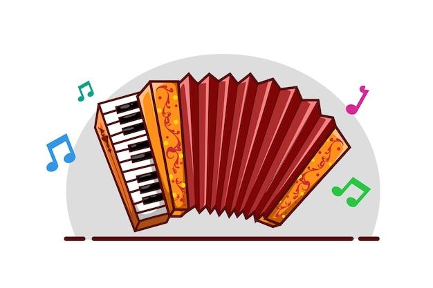 Illustration colorée d'accordéon
