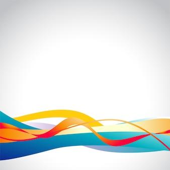 Illustration colorée de conception de vague colorée