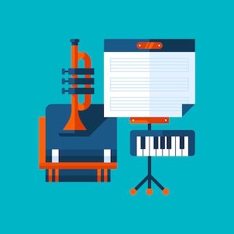 Illustration colorée sur l'éducation musicale