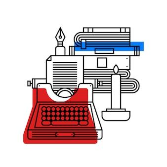 Illustration colorée sur la littérature