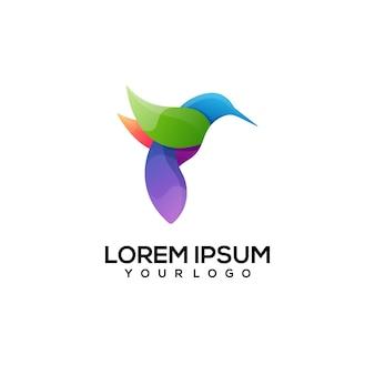 Illustration colorée de logo d'oiseau