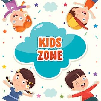 Illustration colorée pour la journée des enfants heureux