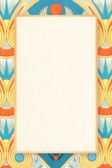 Illustration colorée de vecteur de cadre à motifs égyptiens décoratifs