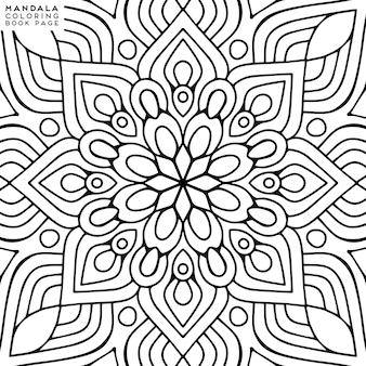 Illustration de coloriage de mandala