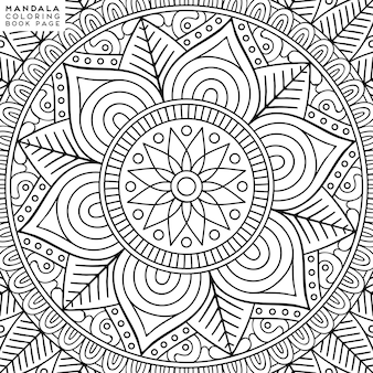 Illustration de coloriage de mandala