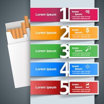 Illustration commerciale d'une cigarette et des dommages