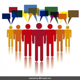 Illustration de la communication humaine