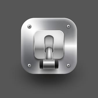 Illustration de commutateur isolé sur gris