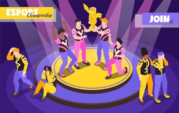 Illustration de compétitions de jeux informatiques cyber-sport populaires