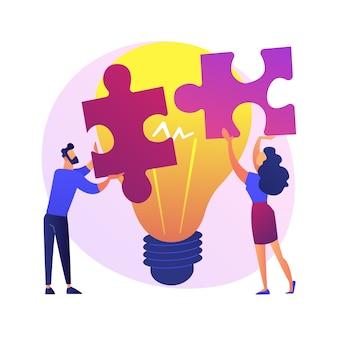 Illustration de concept abstrait d'assistance mutuelle. programme d'entraide, entraide, soutien aux entreprises, services bancaires mobiles, travail d'équipe, groupe de personnes, se serrant la main