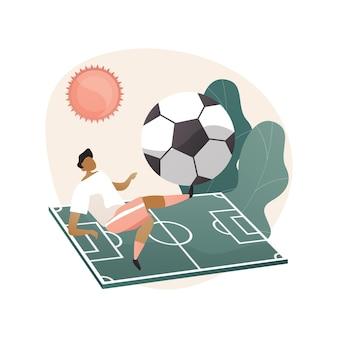 Illustration de concept abstrait de camp de football
