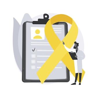 Illustration de concept abstrait de cancer du sein.