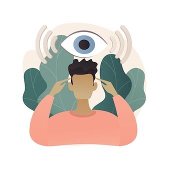 Illustration de concept abstrait capacité clairvoyance