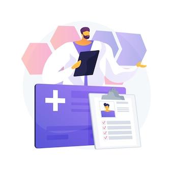 Illustration de concept abstrait de carte à puce de soins de santé