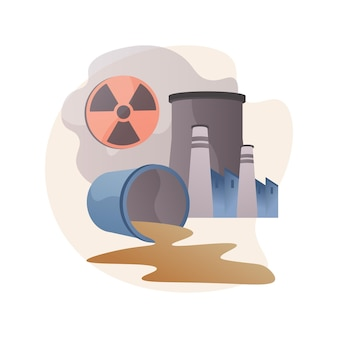 Illustration de concept abstrait de catastrophes technologiques