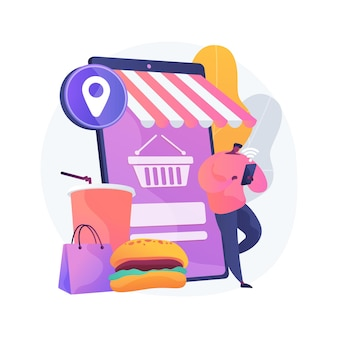 Illustration de concept abstrait de commande en ligne