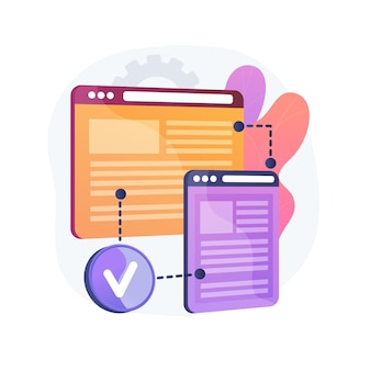 Illustration de concept abstrait de compatibilité entre navigateurs