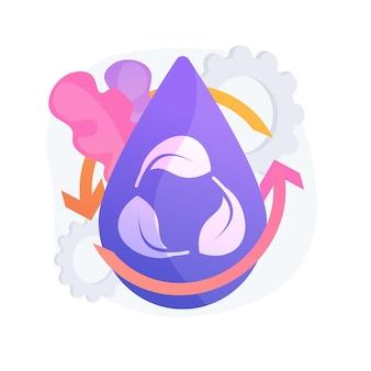 Illustration de concept abstrait de consommation d'eau. surconsommation d'eau, calcul des apports journaliers, informations environnementales, consommation par ménage, usage industriel