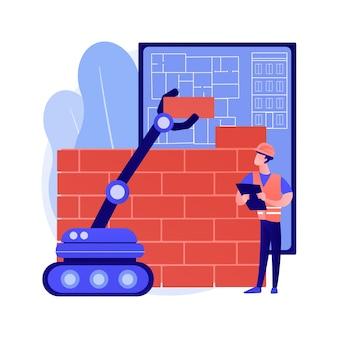 Illustration de concept abstrait construction robotique