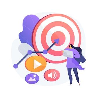Illustration de concept abstrait de contenu haut retour sur investissement