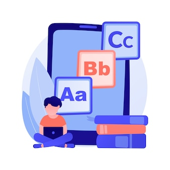 Illustration de concept abstrait de contenu numérique pour enfants