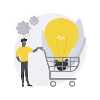Illustration de concept abstrait de développement de commerce électronique.