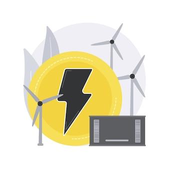 Illustration de concept abstrait d'énergie éolienne.