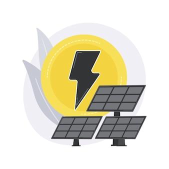 Illustration de concept abstrait d'énergie solaire.