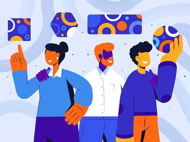 Illustration de concept abstrait équipe créative