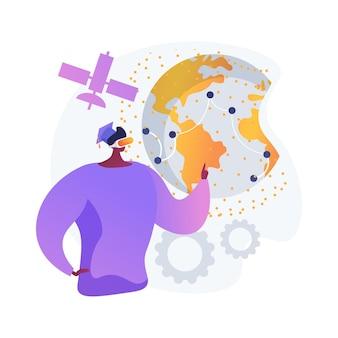 Illustration de concept abstrait expérience d'apprentissage interactif. logiciel de plateforme e-learning, réseautage social, contenu en ligne, homeschooling