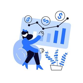Illustration de concept abstrait de fonds d'investissement. investissement