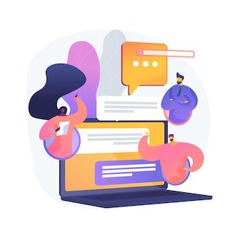Illustration de concept abstrait de forum internet