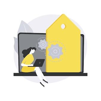 Illustration de concept abstrait de gestion des balises.