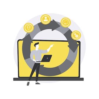 Illustration de concept abstrait de gestion de projet agile.